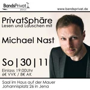 PrivatSphäre Lesen und Lauschen mit Michael Nast